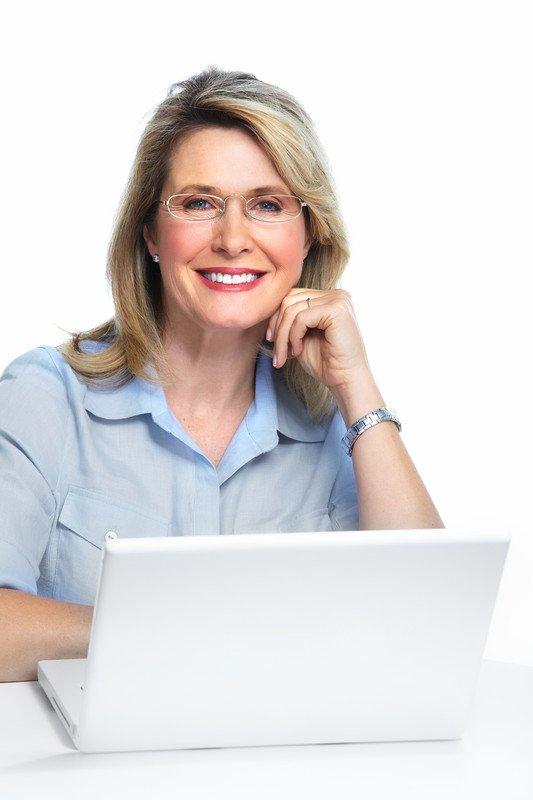woman building WordPress